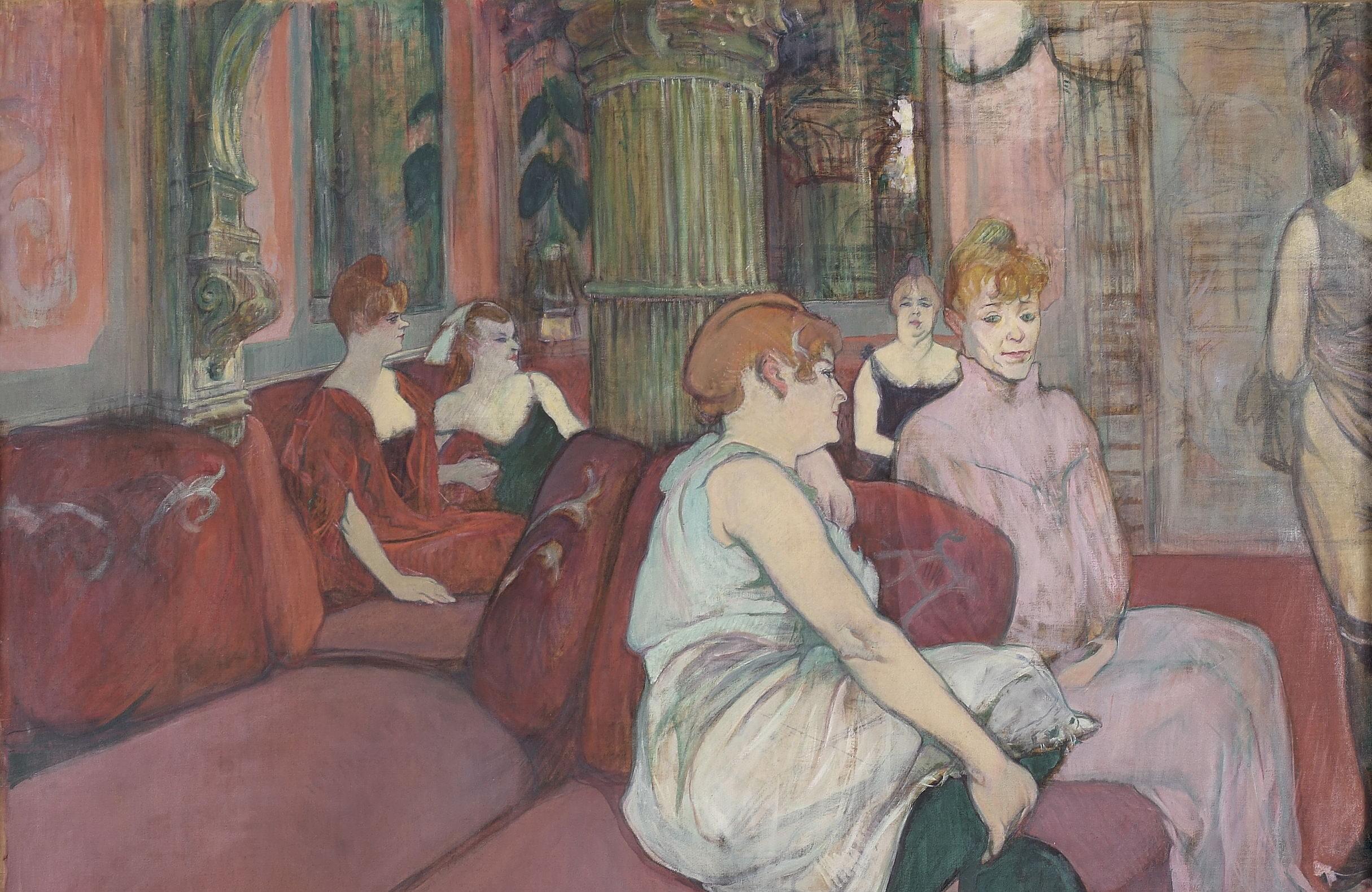 Toulouse Lautrec - Au Salon de la rue des Moulins (2)