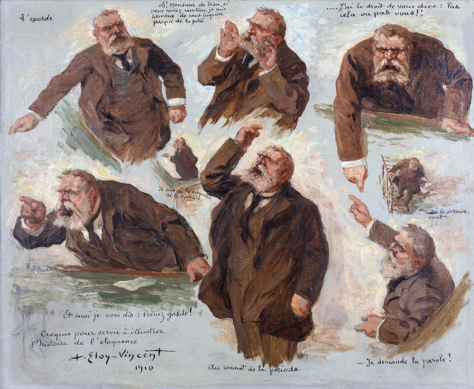 Albert Eloy-Vincent - Croquis pour servir à l'histoire de l'éloquence