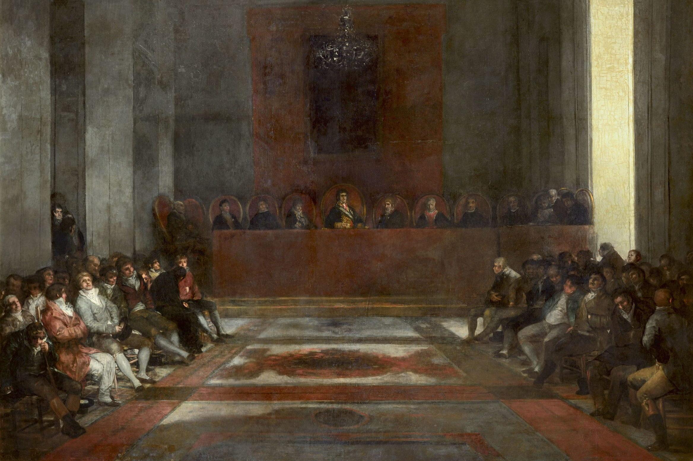 Francisco de Goya y Lucientes - L'Assemblée de la Compagnie royale des Philippines