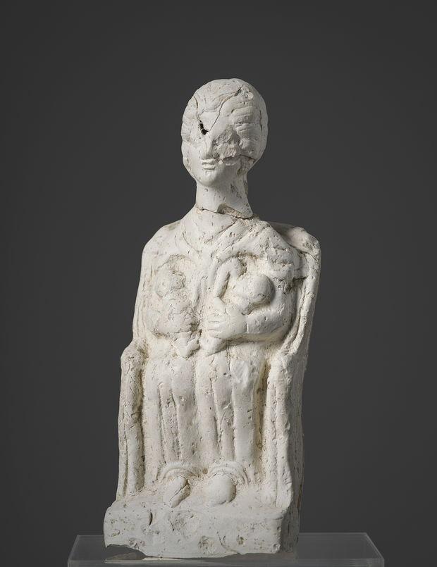Statuette de déesse-mère en terre blanche - Archéosite