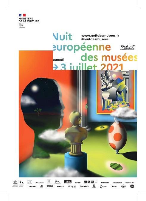 Affiche Nuit des musées 2021