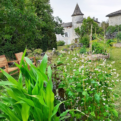 Le jardin du Château-musée du Cayla