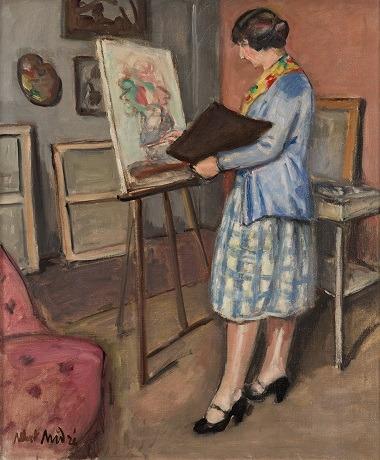 Albert André - La jeune peintre