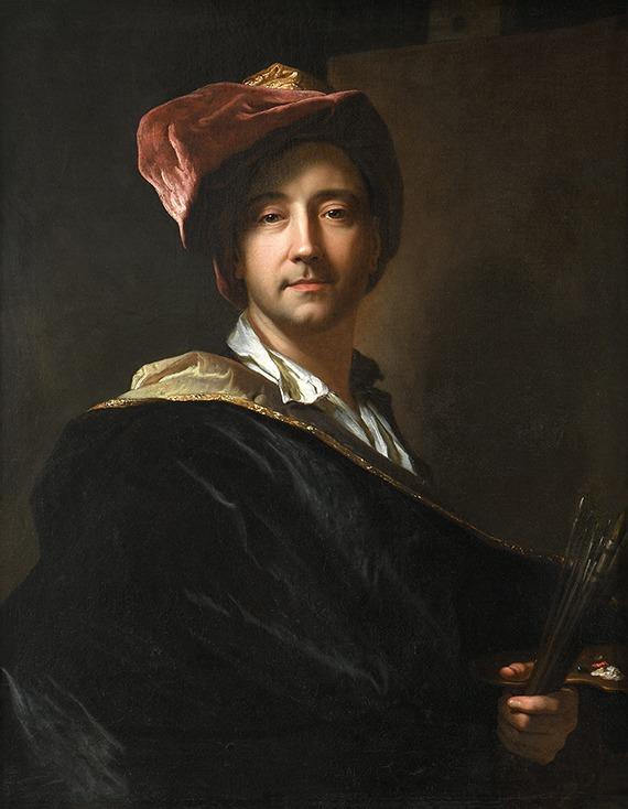 Tableau de Hyacinthe RIGAUD (1659-1743) intitulé Autoportrait dit au turban de 1698