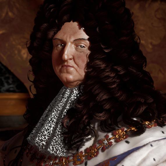 Louis XIV en 3D par Pascal Raimbault