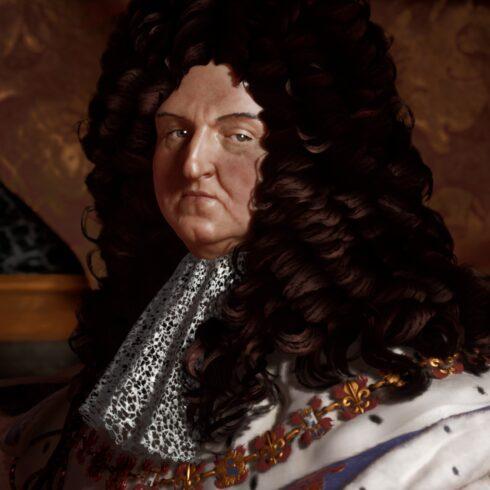 Image 3D de Louis XIV pour illustrer RIGAUD DIGITAL 3D par Pascal Raimbault