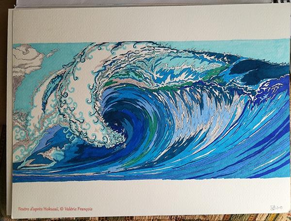 D'après Hokusaï