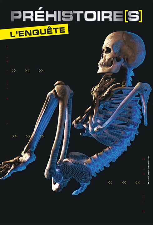 Affiche exposition Préhistoire l'enquête Muséum de Nîmes jusqu'au 14 Novembre 2021