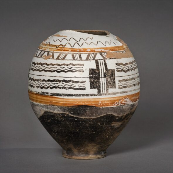 Vase à engobe blanc - Montans