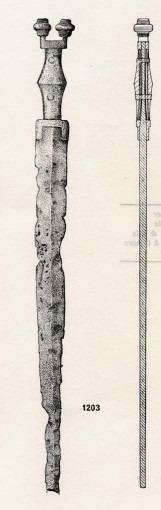 Epée à antennes en fer