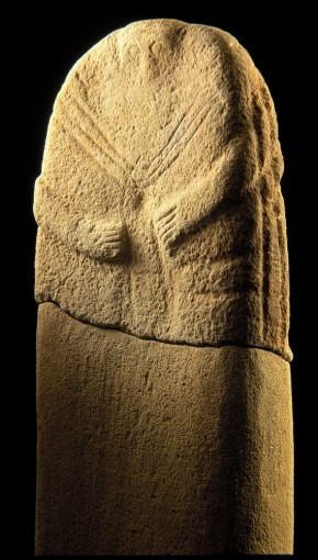 Statue-menhir, provenant de la Prade (Cne de Coupiac)