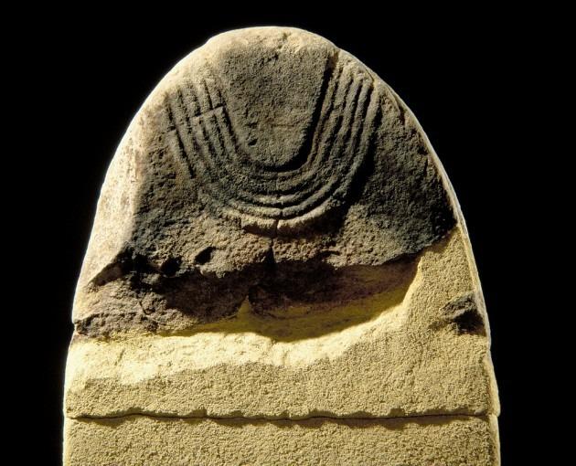 Statue-menhir, provenant de La Raffinie, (Cne de Martrin)