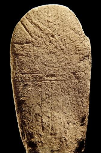 Statue-menhir, provenant de Mas Viel 2 (Cne de Mounhes-Prohencoux)
