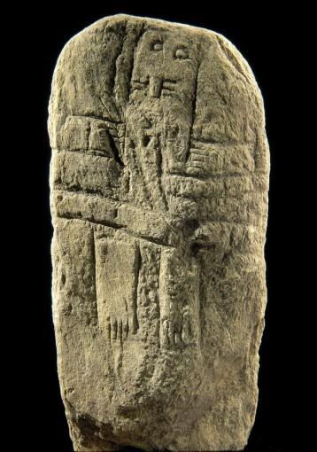 Statue-menhir, provenant de Nicoules, (Cne de Saint-Sever-du-Moustier)