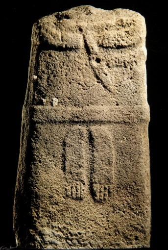 Statue-menhir, provenant de Pousthomy (2), (Cne de Saint-Sernin-sur-Rance)