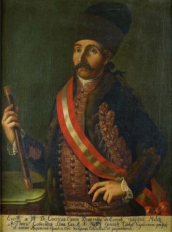 Emerich Dessewffy colonel de Hussards austro- hongrois
