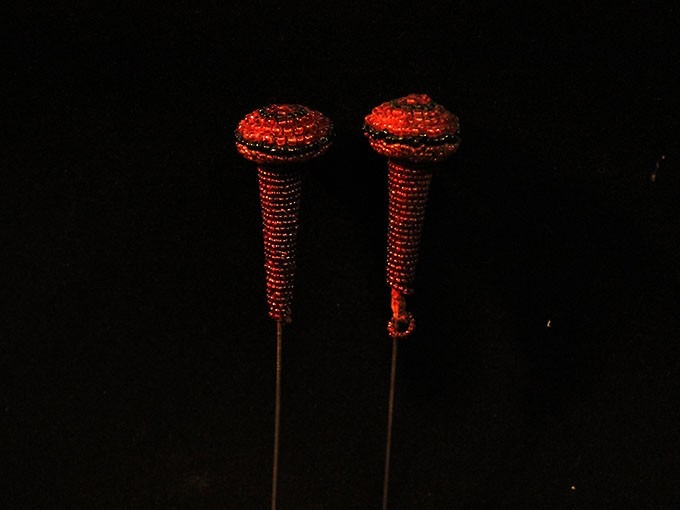 épingles à chapeau en perles