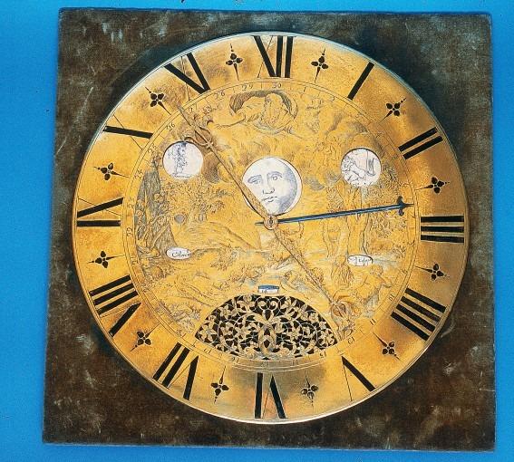 Grand cadran d'horloge astronomique