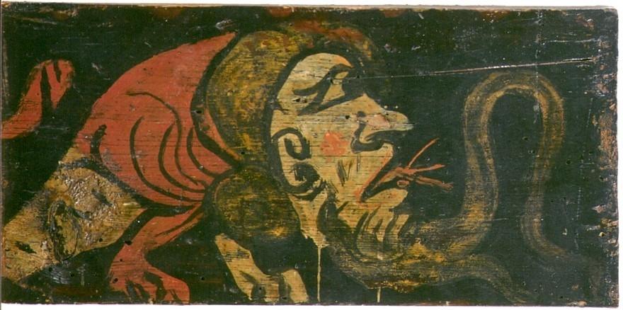 Panneau avec animal fantastique à tête humaine II