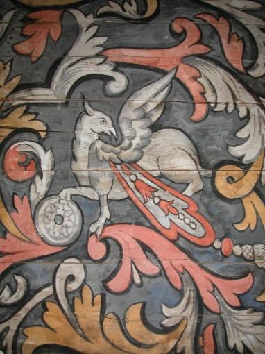 Plafond de la chapelle d'Ambres