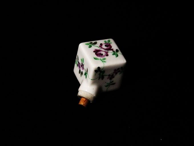 poignée d'ombrelle à motif floral