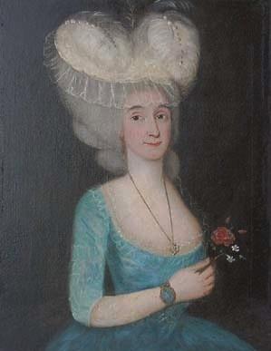 Portrait de femme au bouquet
