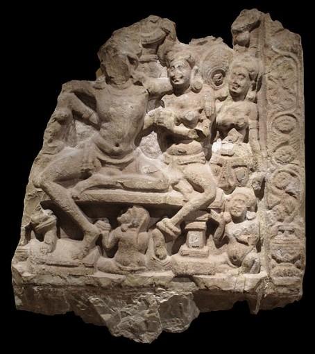Scène de gynécée dans une vie antérieure de Buddha