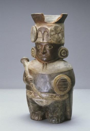 Vase à représentation de guerrier