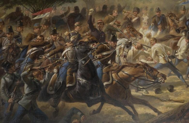 Charge du 2ème régiment de hussards à Solférino