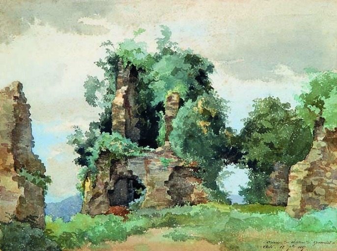 Ruines du Château de Gramont, à  Asté