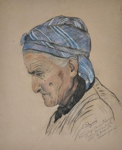 Portrait d'une interprète de Béranger, Rose Borie dite la Bouriato à Bruniquel, 90 ans.