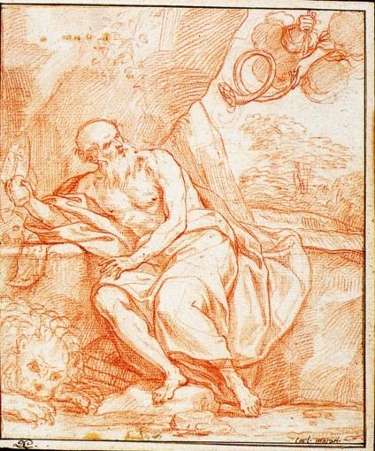 Saint Jérôme écoutant la trompette du Jugement dernier.
