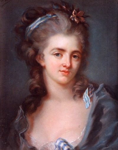 Portrait de Mlle Combette de la Bourélie (d'après E. Vigée Lebrun  )