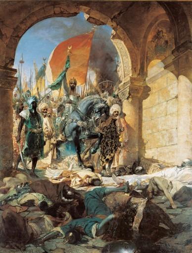 Entrée du sultan Mehmet II à Constantinople le 29 mai 1453