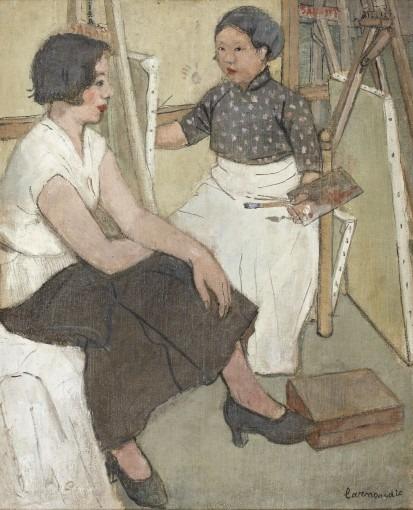 Portrait de ma sœur dans l'atelier de Fernand Sabatté