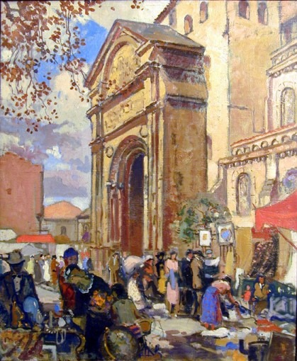 La porte Miègeville à Saint-Sernin et le marché aux puces