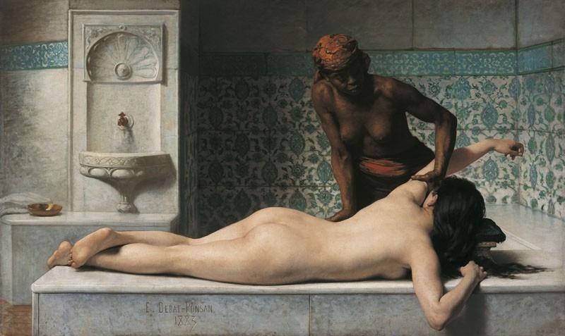 Le Massage. Scène de hammam