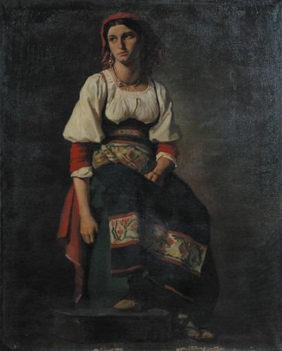 Portrait d'une italienne assise