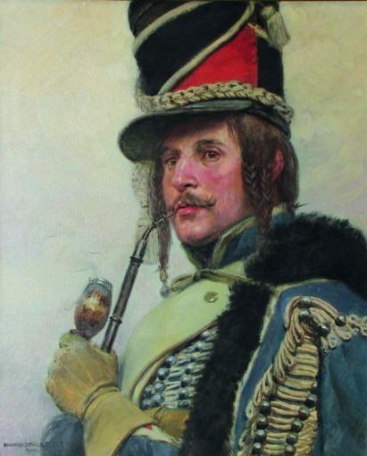 Hussard fumant la pipe