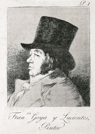 Série Les Caprices : Francisco Goya y Lucientes, Peintre