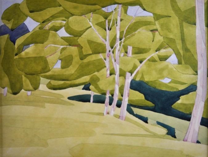 Composition avec des arbres