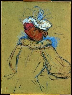 Femme rousse vue de dos (étude)