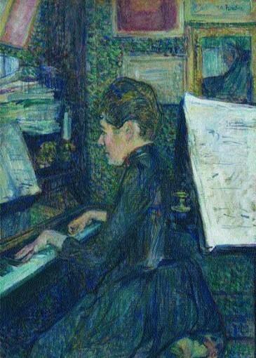 Mademoiselle Dihau au piano