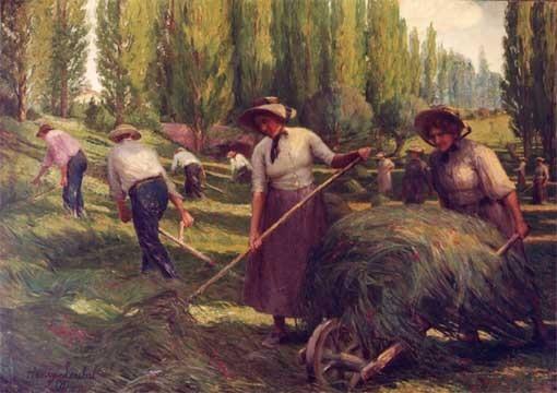 Les faucheurs (la plaine de Cornebouc)