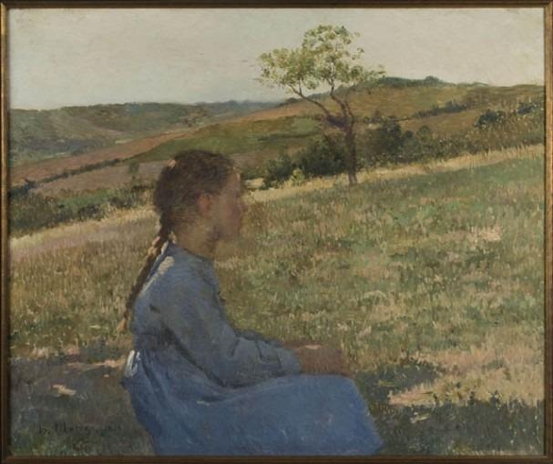 Jeune fille dans un pré, 1889