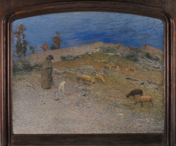 Berger et ses moutons dans les Causses, Lot