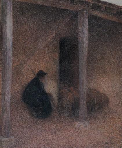 Berger rentrant ses moutons