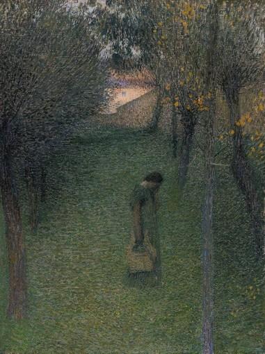 Muse pensive au jardin