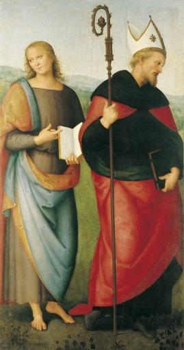 Saint Jean l'Evangéliste (?) et saint Augustin