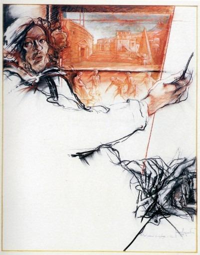 Portrait présumé de Lafage à Rome